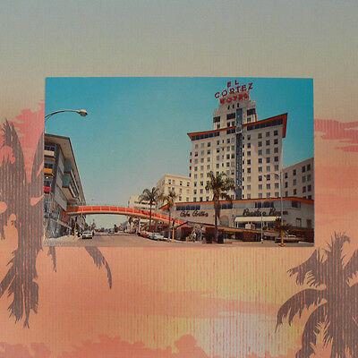 San Diego California Vintage Postcard Historic El Cortez Hotel 1950