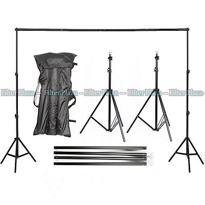 10Ft PRO Photography Photo Muslin Background Support Stand Backdrop Crossbar Kit