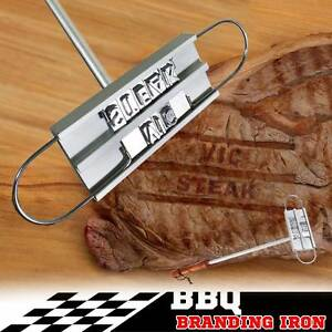 BBQ Branding Iron Changeable Letters Grilling Restaurant Kitchen Croydon Burwood Area Preview