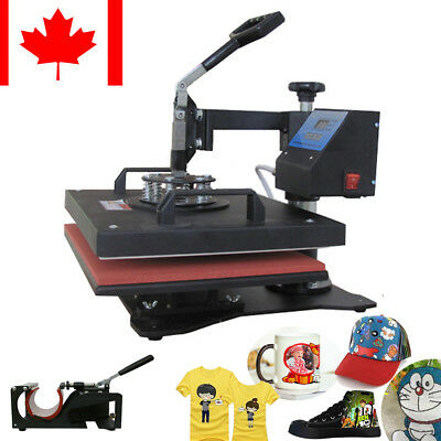 5-in-1 Digital Heat Press Machine Sublimation T-shirtmugplate Printer 110v Fda