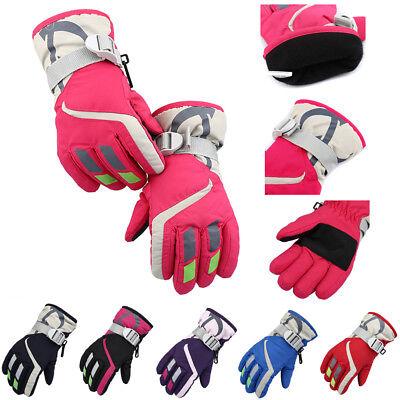 New Kids Waterproof Anti-slip Outdoor Sports Warm Thermal Ski Snow Gloves Winter