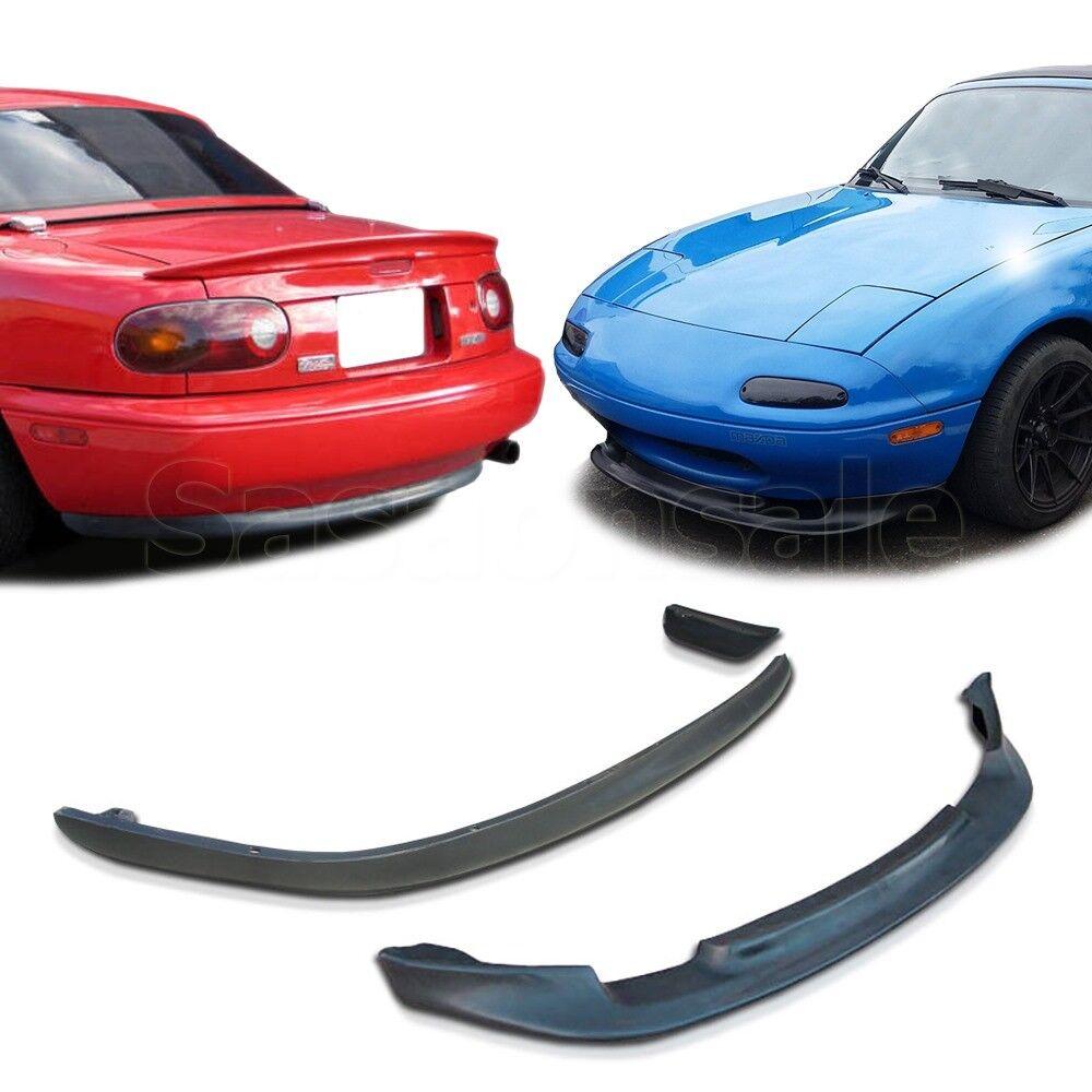 For 90-97 Miata MX5 MX-5 GV Front /& OE Rear Bumper Lip Combo Unpainted