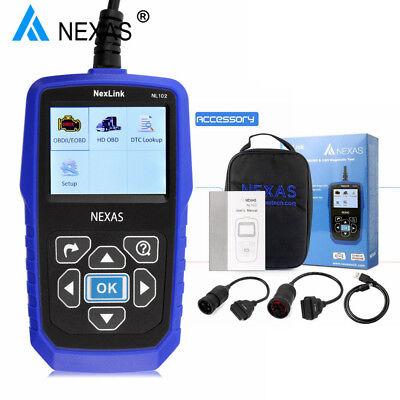 Heavy Duty Diesel Truck Diagnostic Scanner Tool OBD2 HD Code Reader Nexas NL102