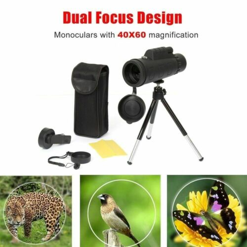 40x60 Zoom Monocular HD Telescope Telephoto Camera Lens + Ph