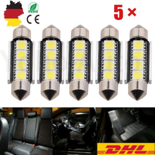 4x Ba9s T4W 5 SMD 5050 LED Standlicht Rücklicht Beleuchtung Weiß Deutsche Post