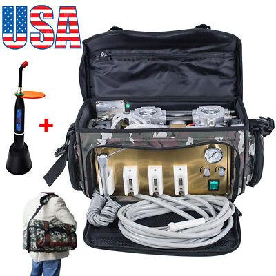 Us Portable Dental Turbine Unit 4 Hole Air Compressor Suction Syringe Bag Gift