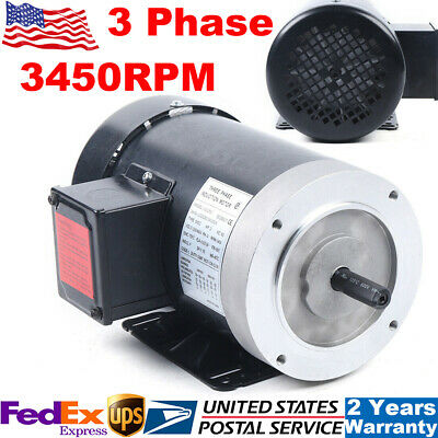 3450rpm 2hp 3 Phase Electric Motor 60hz For Oilfield Agriculture Air Compressor
