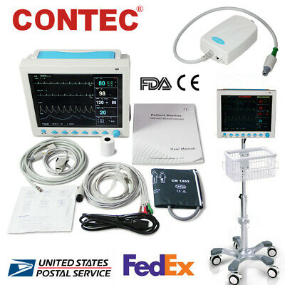 Icu Patient Monitor Multi Parameters Vital Signs Optional Co2printer Standbag