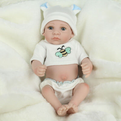 10'' Reborn Baby Dolls Lifelike Newborn Full Vinyl Silicone Realistic Doll Gifts