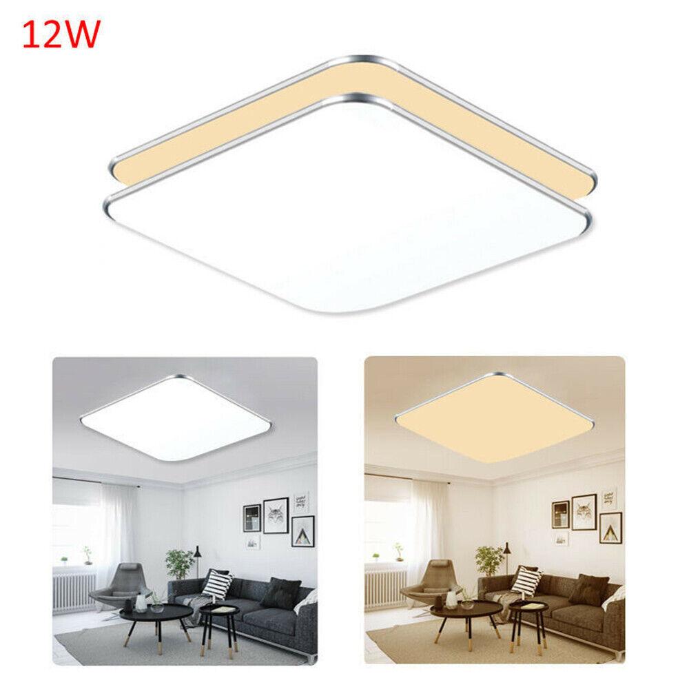 12W Sensorlampe LED Deckenlampe Deckenleuchte Innenleuchte mit Bewegungsmelder Warmweiß ohne Rader Sensor