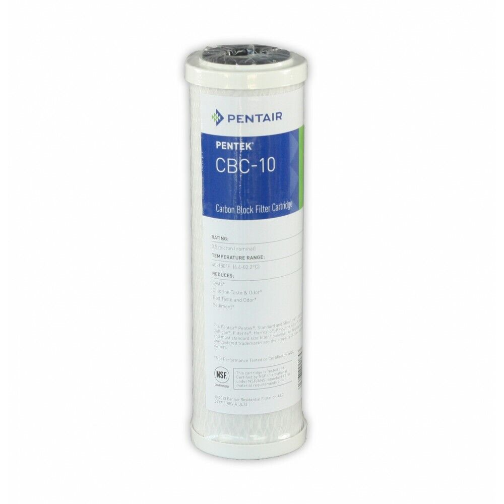 Pentair High Quality 0.5 Micron PENTEK CBC-10 Carbon Block Water Filter 155162-4