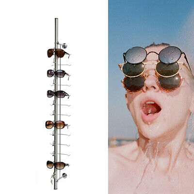 Aluminium Lockable Sunglass Eyeglasses Display Rod 12 Frames Display Stand Hot
