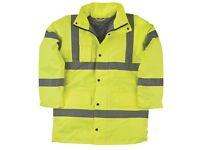 "Hi-Vis Padded Work Jacket / Coat, Yellow, XXL, Waterproof. ""BRAND NEW"""