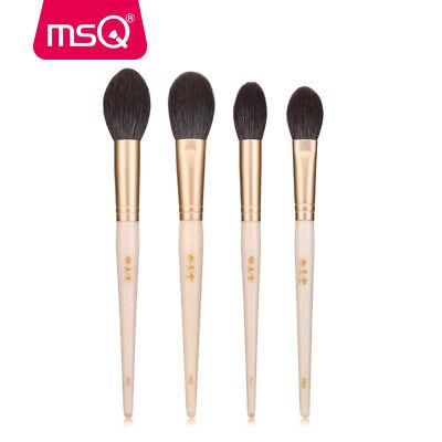 4pc Foundation Makeup Brush Set Powder Highlight Blush Brush Soft Goat Hair Wood Powder Goat Hair Makeup Brush