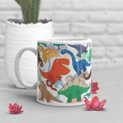 Dinosaur Coffee Mug, Trex Lover, Cute, Gift For Her, Him, Birthday Tyrannosaurus - Dinosaur Mug