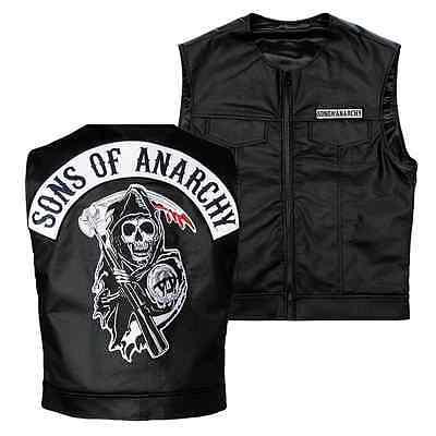 Kids 3Xl Sons Of Anarchy Officially Licensed Biker Vest Reaper Patch Jax Teller