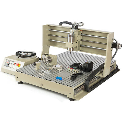 4 Axis 1500w 220v Cnc 6090 Router Engraver Milling Engraving Machinehandwheel