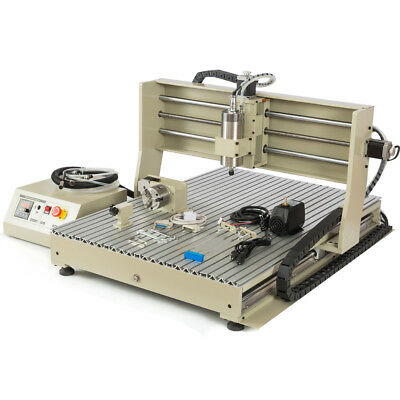 Usb Port 4 Axis Cnc6090 Router Engraver Drilling Milling Machinehandwheel 1.5kw