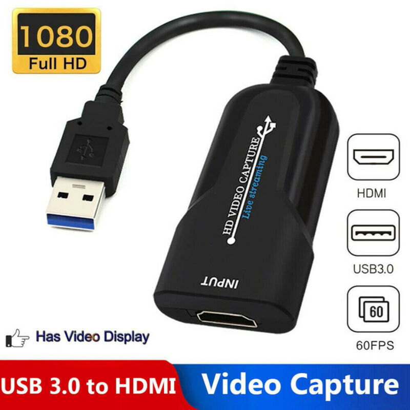 Portable HD USB 3.0 to HDMI 1080P 60fps Monitor Video Captur