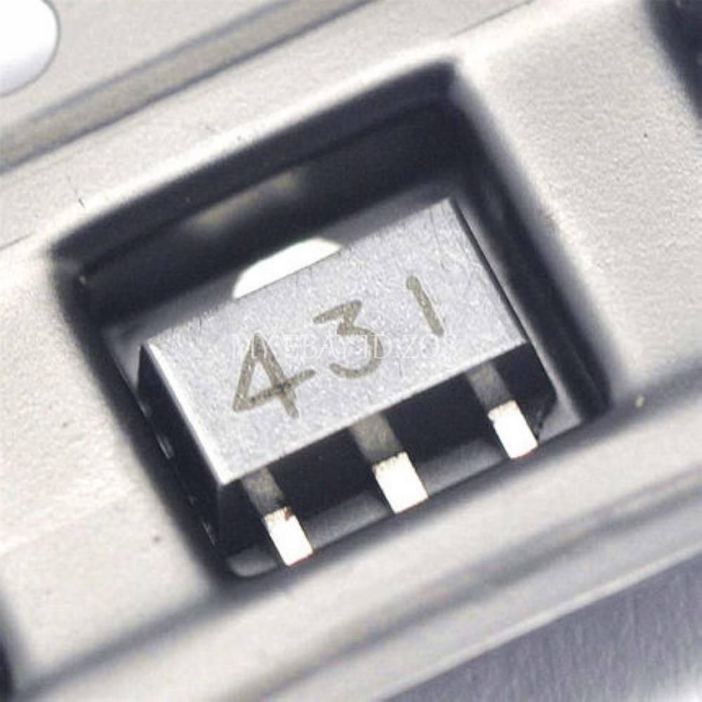 20PCS TL431 431 SOT-89 Regulators Transistor SMD transistor