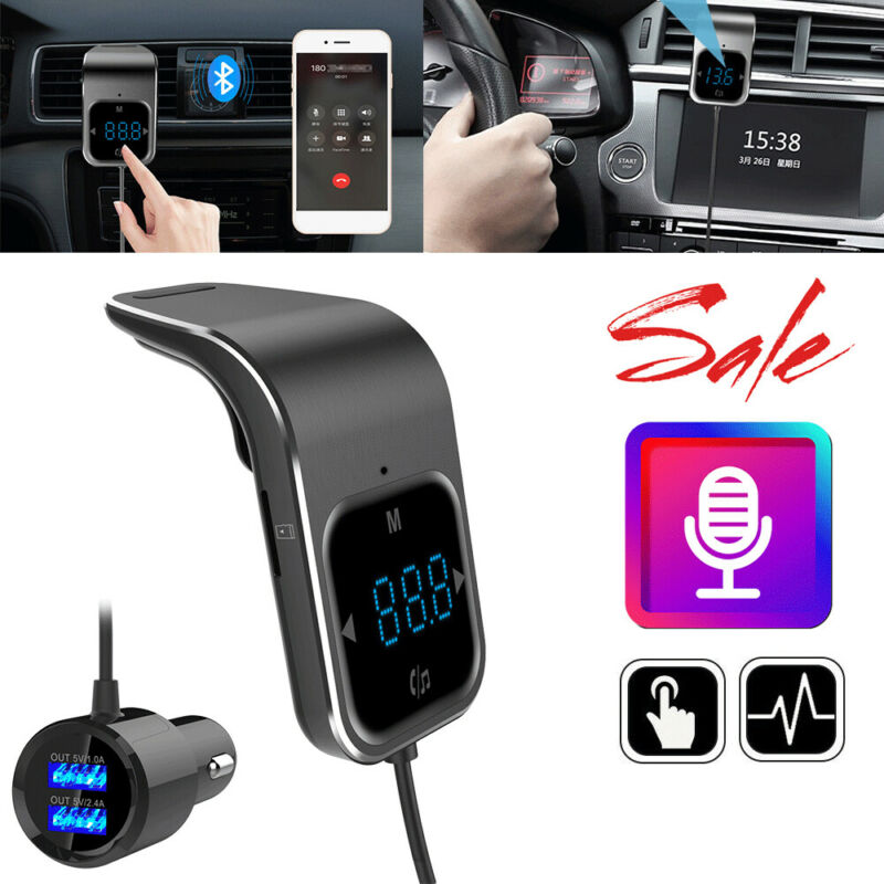 Wireless Bluetooth FM Transmitter Car Kit Handsfree MP3 Radio Player USB Charger