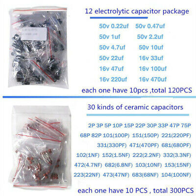 1390pcs Lot Electronic Components Led Diode Transistor Capacitor Resistance Part