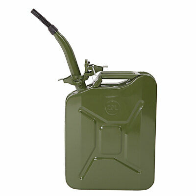 5 Gallon 20l Backup Gasoline Fuel Can Oil Water Petrol Diesel Storage Metal Tank