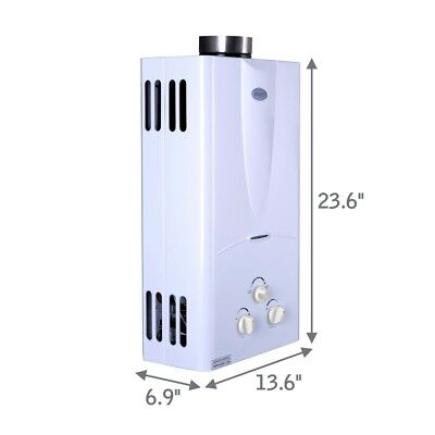 Marey Tankless Water Heater Propane Best 2.7 GPM Refurbished GA10LP US SELLER