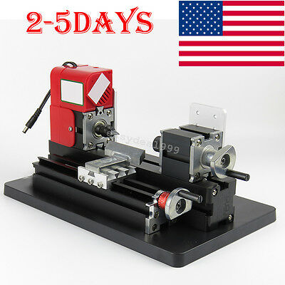Usa Easy Use Mini Metal Lathe Machine Saw Combined Tool Diy Wood 20000rpmmin