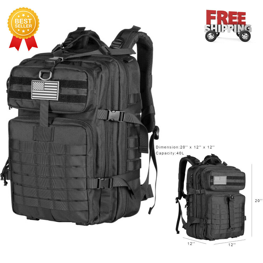 Military Tactical Backpack -Large Army 3 Day Assault Pack Mo
