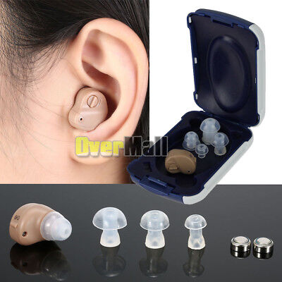 Small In Ear Invisible Best Sound Amplifier Adjustable Tone Hearing Aids Aid US