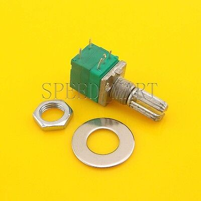 B10k Audio Amplifier Sealed Potentiometer 15mm Shaft 5 Pins With Switch