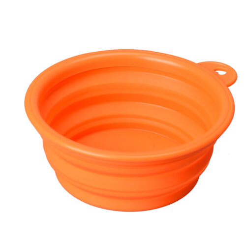 Simple NEW Puppy Dog Cat Collapsible Feeding Bowl Water Food Feeder Travel Dish