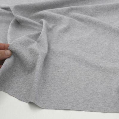 T-Shirt u Kleider Jersey Stoff in Grau Meliert elastische Baumwolle Meterware - Baumwolle Knitterfrei Kleid Shirt