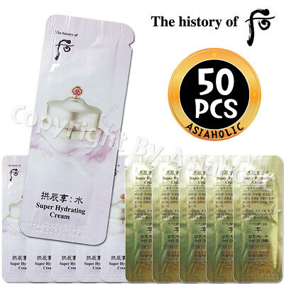 The history of Whoo Super Hydrating Cream 1ml x 50pcs Soo Yeon Jin Newist Ver
