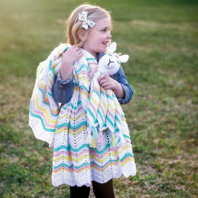 Herrschners® Little Llama Lovey & Blanket Yarn Kit