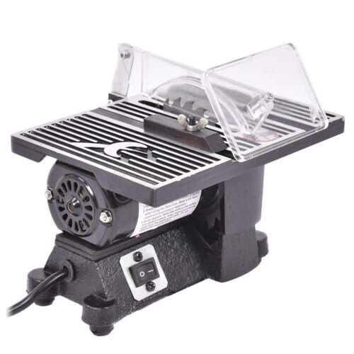 """4"""" Hobby Craft Mini Table Saw Electric w/ 2 Blades Precision Bench Top Portable"""