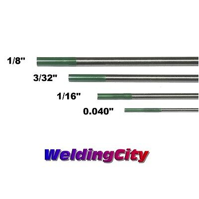 4-pk Tig Tungsten Electrode Pure Green Assorted .040-18 Us Seller Fast