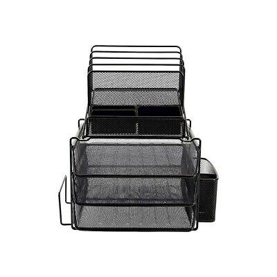 Black Mesh Desk Organizer - Staples All-in-One Wire Mesh Desk Organizer Black (29491) 2030247