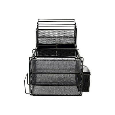 Staples All-in-one Wire Mesh Desk Organizer Black 29491 2030247