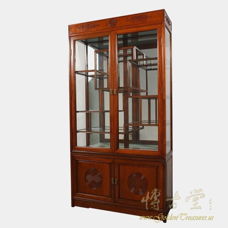 Chinese Antique Rosewood Display/Curio Cabinet 18LP46
