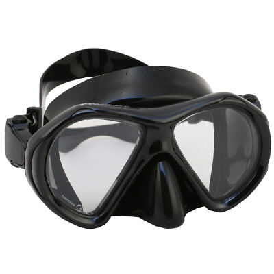 - Scuba Dive Snorkeling Spearfishing Mask Gear Ultra Low Volume Black Silicone