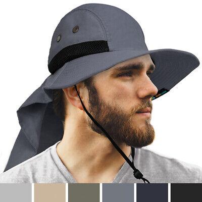 Men Women Boonie Hat With Neck Flap Fishing Hiking Outdoor U