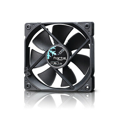 Lot of 4 Fractal Design Dynamic GP-12 120mm Black Cooling Fan FD-FAN-DYN-GP12-BK