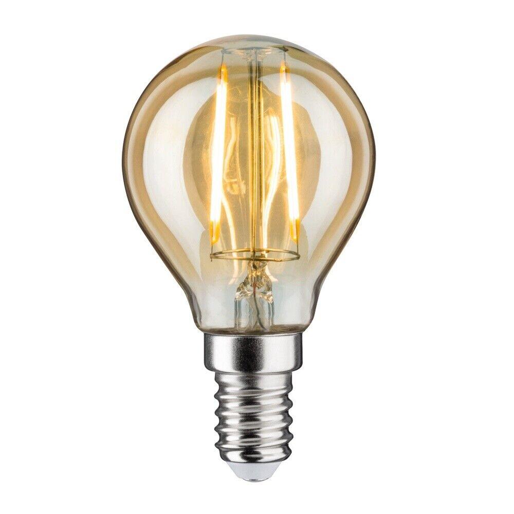 10er Set Paulmann 282.62 LED Tropfen klar E14 2,5W = 20W warmweiß 2700K 360°