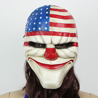 PAYDAY 2 The Heist Dallas Resin Mask Heist Joker Costume Cosplay Props Halloween](Payday 2 Halloween Costume)