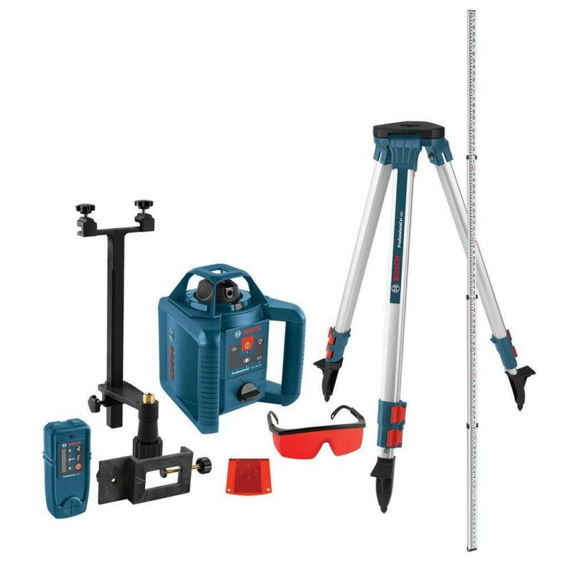 Rotary Laser Level Kit Self Leveling Recondition 800 FT w/ Tripod Receiver