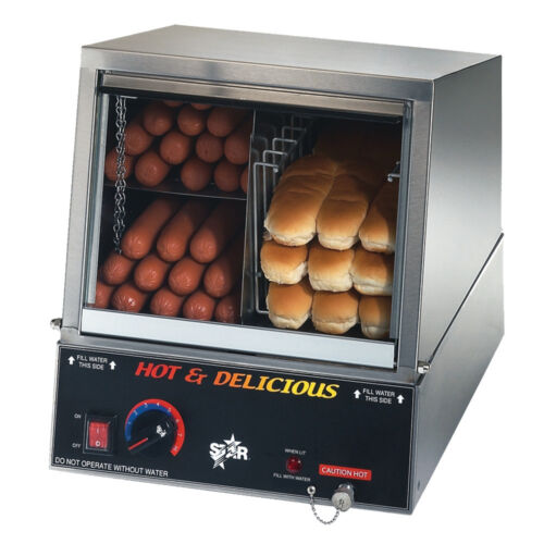 Star 35ssa 170 Hot Dog Capacity Hot Dog Steamer W/ Bun Warmer