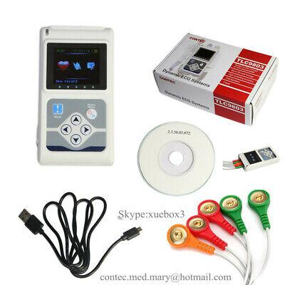 24 Hours Dynamic Ecg Holter 3 Channel Ekg System Portable Ecg Monitorsoftware