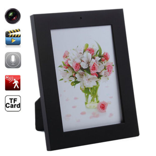 Home Black Picture Frame Spy Security Camera Hidden Motion D